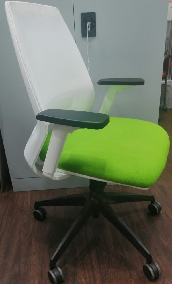 Contempoary White Mesh Chair